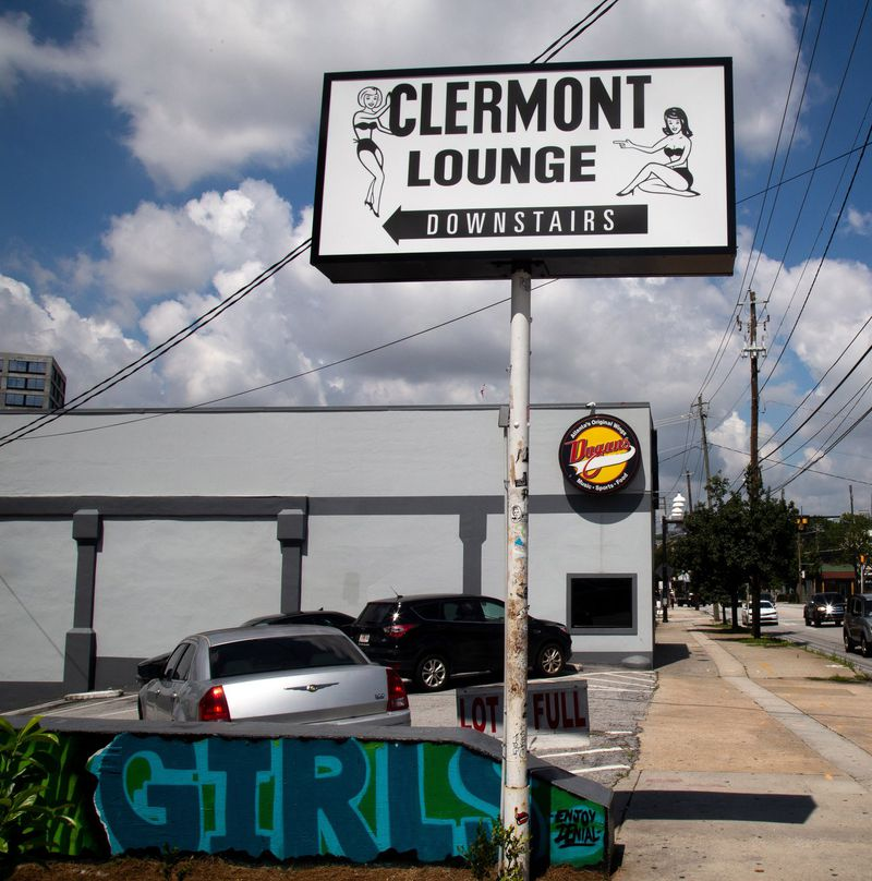 Clermont Lounge temporarily closed due to an employee testing positive for COVID-19. STEVE SCHAEFER FOR THE ATLANTA JOURNAL-CONSTITUTION